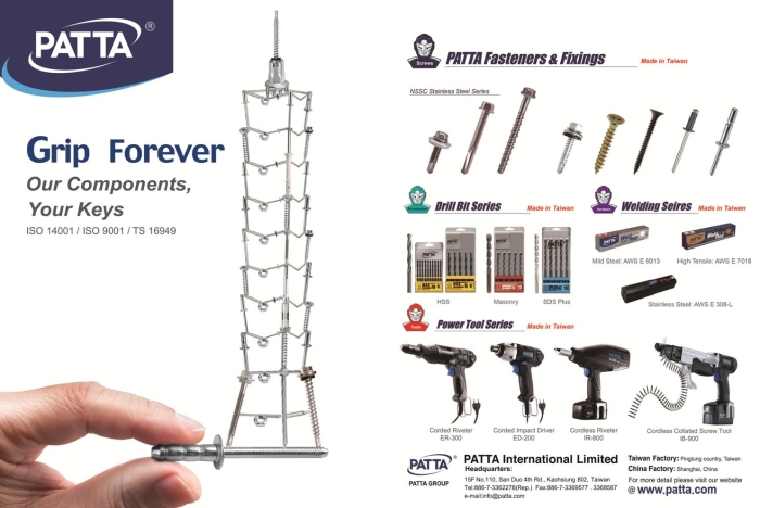 Patta International Ltd Patta Taiwan Fastener Service