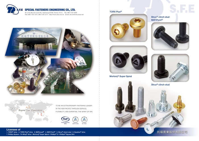 SPECIAL FASTENERS ENGINEERING CO., LTD. 托福實業股份有限公司 Img